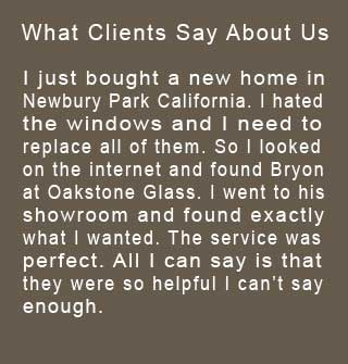 Read about reviews from clients that use Glass Moorpark Oakstone Glass